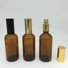 Free Shipping 10pcs 100ml amber glass spray bottle, glass bottle, mist sprayer bottle, perfume spray amber glass bottle()