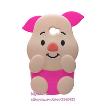 Soft Silicone Phone Cover Case For Huawei Y5II Y5 II 2 3D Cute Cartoon Rose Red Big Ears Pig