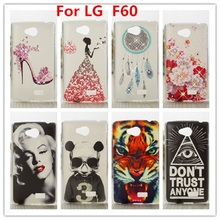 For LG F60 Case /Luxury Crystal Diamond 3D Bling Hard Plastic Case Cover For LG Tribute LS660 Optimus F60 Cell Phone Case