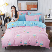 2017 Low Price Wemay  Pink Bedding Set 4pcs Xl Quilt Cover Set For Girls Polyester  Bed Sets Teen  Sjt027-29