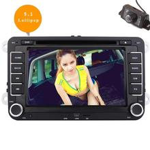 Android 5.1 Car DVD Player 2 Din GPS Vehicle Stereo Radio Video In Dash Navigation Backup Camera for Jetta Golf VW Bluetooth
