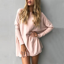 Buy vestidos 2017 Autumn Winter Fashion O-Neck Style Women Casual Dress Batwing Sleeve Long Sleeve Dress bodycon for $13.84 in AliExpress store