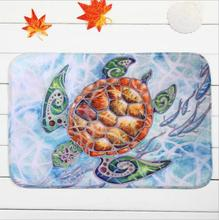Sea Turtles Fish White Carpet Home Bedroom Floor Mats Home Decor Keep Clean Dry Carpet Rugs Plush Fabric Blanket Hotel Door Rugs