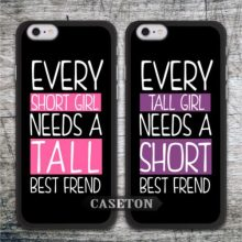 Best Friend Tall And Short Girl Case For iPhone 7 6 6s Plus 5 5s SE 5c 4 4s and For iPod 5 Worldwide Free Shipping