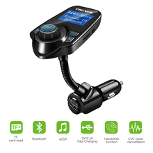 12-24V Wireless Bluetooth V3.0 Car Kit MP3 Player Hands-free Call Wireless FM Transmitter Modulator LCD 2.1A USB TF Slot(China)