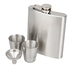 Portable 7oz Stainless Steel Hip Flask Whiskey Wine Bottle Drinkware Alcohol Liquor Pot Gifts Bar Drinking Accessories