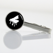New Arrival Piano Violin Tie Clips Musical instrument silhouette tie pin men jewelry pole dance Dentist doctor necktie bar T765