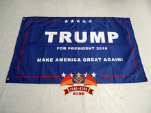 Free Shipping Donald Trump 3x5 ft Flag 2016 Make America Great Again Donald for President USA,one layers(China)