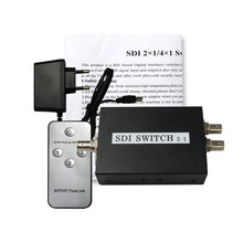 SDI Switcher 2x1 HUB SDI Intelligent Switch Extender 2To1 Converter For Monitor Security Camera CCTV Video SuCamera CCTV Video
