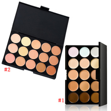 15 Color Fashion Women Professional Makeup Cosmetic Contour Concealer Make Up Cream Palette FM88(China)