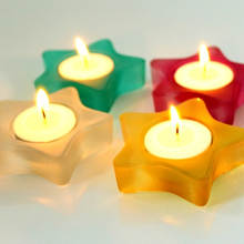 Decorative Mini Star Tea Light Candle Holders Wholesale Votive Candle Stand Party Decoration 4pcs/lot SH283(China)