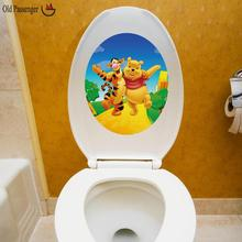 Winnie the Pooh Toilet stickers Home Decoration Accessories   Wall Stickers For Kids Rooms  Wallpaper Sticker Ass