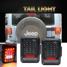 CO LIGHT 2x LED Rear Reverse Tail Lights Stop Brake Turn Lamps 24W 48W for 07-15 Jeep Wrangler JK Offroad 4x4 Car Styling US&EU(China)
