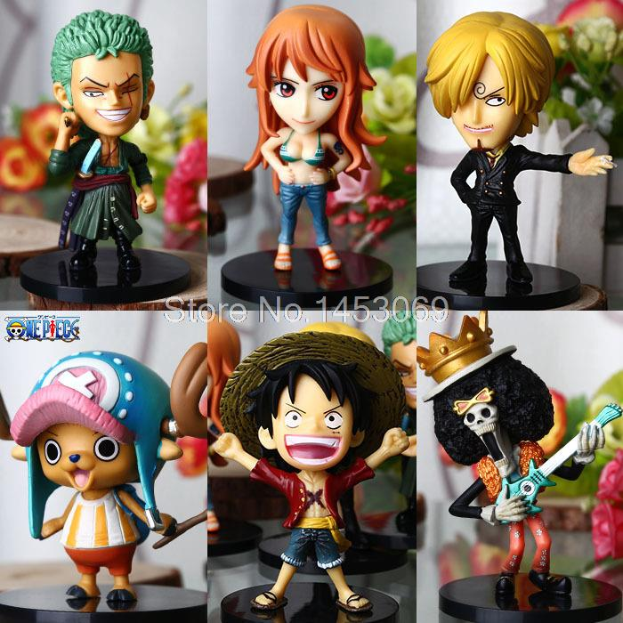 Free Shipping 6pcs/set Japanese Anime Catoon One Piece two 2 years later Action Figure Luffy PVC Collectible Model Toy Boxed<br><br>Aliexpress