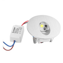 New Design Recessed LED Wall Lamp 1W Round Light for Porch Pathway Step Stair Basement Bulb AC 85-265V Warm / Cold White