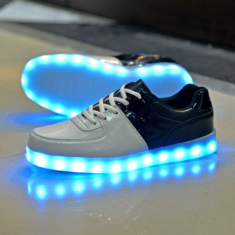 2017 Unisex Colorful glowing shoes with lights up led luminous shoes a new simulation sole led shoes for adults neon basket led<br><br>Aliexpress