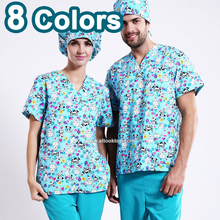 Cute Medico uniformes hospital women medical robe scrubs clothing dental clinic beauty salon nurse work wear surgical suit spa(China)