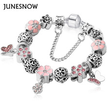 Luxury Brand Women Bracelet Unique Silver Crystal Charm Brand Bracelet for Women Brand Bracelets & Bangles Jewelry Gift(China)