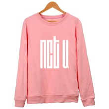 KPOP NCT U Hoodies Women Album Member Name Print Hip Hop Pink Sweatshirt NCT U Pullover Cotton Hoodie Sudaderas Black Plus Size