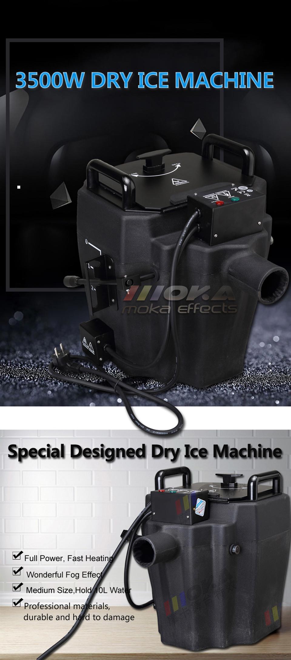 1 Pcs/lot 3500w dry ice smoke machine low ground fog machine stage effect party machine mini water fog machine dry ice effect