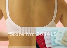 Ladies  2 Hooks Bra Strap Extender hook clip perfect Nude ADJUSTABLE BELT buckle multi color available wholesale