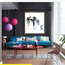 HAOCHU modern simple decorative painting dog series Inkjet canvas living room bedroom hotel entrance murals home decor poster(China)