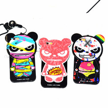 wholesale Cartoon Panda phone case Korean version of the panda doll phone case for iphone 6 iphone 6 plus