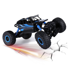 RC Car 2.4Ghz 1/18 Scale Remote Radio Control 4 Wheel Driving Car Double Motors Drive Bigfoot Car Model Off-Road Vehicle Toy