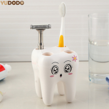 Teeth Style Toothbrush Holder,4 Hole Cartoon Toothbrush Stand Tooth Brush Shelf,Bracket Container Bathroom Accessories Set(China)