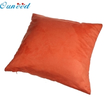 Ouneed Happy home Fashion  Pillow Case Decorative Fashion Suede Nap Pillow Shams Good Quality   Pillow Case