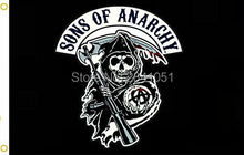 Sons Of Anarchy Black USA Outdoor Indoor Football College Flag 3X5 Custom USA Any Hockey Flag(China)