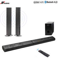 60W 3D Home Theater TV Soundbar Bluetooth Speakers Wireless Sound Bar Stereo LED TF Optical HDMI AUX Subwoofer Computer PC Phone(China)