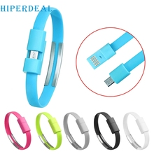 HIPERDEAL Mecall new Wristband Micro USB Cable Charger Charging Data Sync For Android Cell Phone Drop Shipping wholesale Mo01
