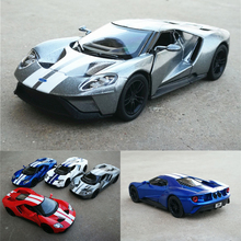High simulation 1:38 Scale 2017 Ford GT Alloy Car Model Metal Car Toys With Pull Back For Kids Gifts Free Shipping Collection(China)