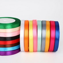 25 Yards Length 10mm width Satin Ribbon for DIY Bow Craft Decor Wedding Party Decoration Gift Wrapping Scrapbooking Supplies
