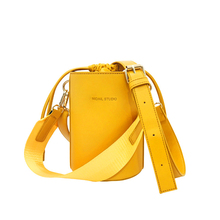 Bolsa Feminina Yellow Bucket Tote Bags For Women 2017 Luxury Handbags Women Bags Designer String Wide Handle Shoulder Bags New(China)