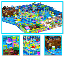 customized made amusement playground equipment for kids Ocean sea indoor castle toy factory manufacturer YLW-IN17004A