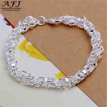 AFJ Bracelet 925 Jewelry Silver Bracelet Fashion Jewelry Bracelet Leading Shrimp Buckle 20CM Chain Sterling-Silver-Jewelry