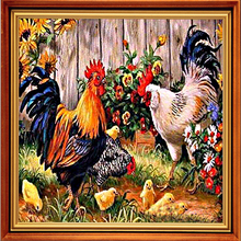 5D Diy Diamond Painting Cross-Stitch Kits Diamond Embroidery Pretty Big Cock  Pictures By Numbers Embroidery Ribbons Needlework