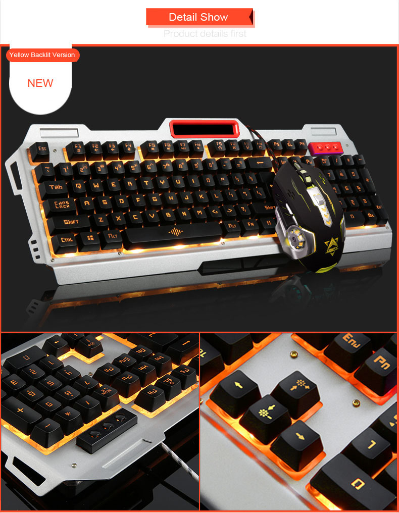 Breathing Keyboard+3200DPI Gaming Dollar 6