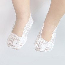 Summer Lovely Baby Girls Lace Socks Infant Toddler Solid Breathable Invisible Lace Soft 5 colors Sock S2(China)