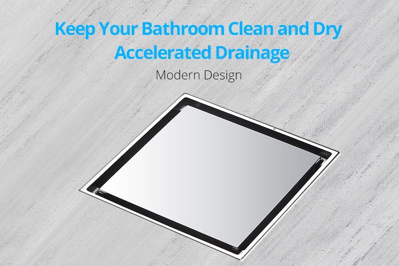 DCAN Brass Drains Drain Strainers Floor Linear Shower Floor Drains Bathroom Shower Drain Cover Kitchen Filter Strainer Drainer (1)