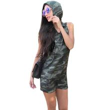 Summer Clothes Slim Camouflage dress 2017 New Women Dress Sleeveless dresses Printing dresses Fashion Vestidos SP45 E(China)