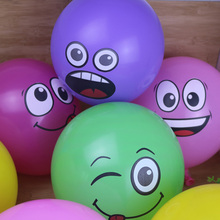 50 pcs12inch 2.8g Smile Face Latex Balloons Party Birthday Decoration Helium Print Balloon Balony Toys Mixed color(China)