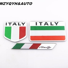 Buy Car Styling Italy Flag Car Stickers Decals 3D Stickers Logo Full Boday Emblem Badge Auto Accessories car for $1.12 in AliExpress store