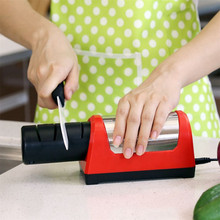GRINDER Electric Knife Sharpener Kitchen Sharpening Stone 2 Stages Diamond Kitchen Knife 2 Slot Sharpening System Taidea T1031D(China)