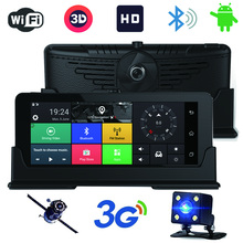 3G 9 inch Car GPS Navigation Bluetooth Android 5.0 Navigators av-in DVR FHD 1080 Vehicle Dual Lens Video Recorder(China)