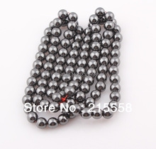 8mm Magnetic Hematite Beads Round Black Shamballa Hematite Stone Beads Ball ZBE09(China)