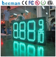 "leeman 10"" led gas price sign led price sign petrol gas station screen xxx vxxx video gas station led canopy lights"