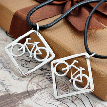 Bicycle Bike Necklace Jewelry Leather Necklace Bicycle Pendant Necklaces Jewelry Collier Femme(China)